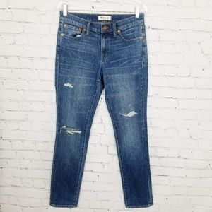 Madewell|Distressed Slim Boyfriend Jeans